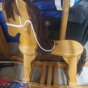 Amish heirloom oak rocking horse
